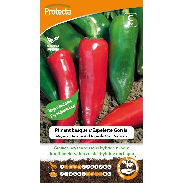 Protecta - Graines paysannes Piment Basque D'Espelette Gorria