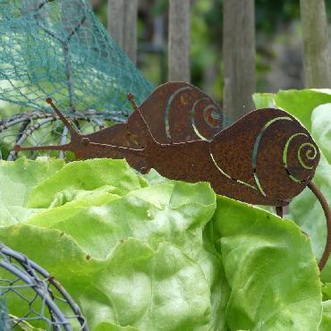 Escargot à piquer en fer rouillé