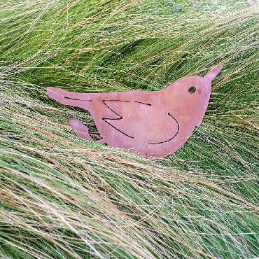 Oiseau grimpereau à visser en fer rouillé