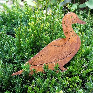 Canard à visser en fer rouillé