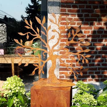 Arbre de vie 46 cm de haut à poser en fer rouillé