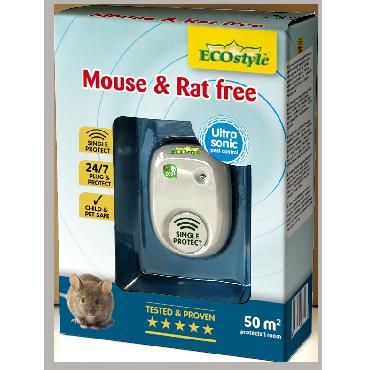 Répulsif à ultrasons souris et rats free 50 m2