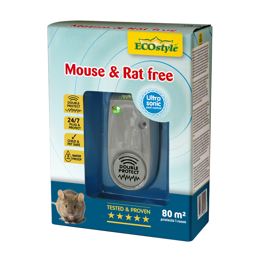 Répulsif à ultrasons souris et rats free 80 m2
