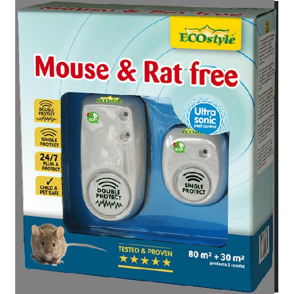 Répulsif à ultrasons souris et rats free 80 + 30 m2