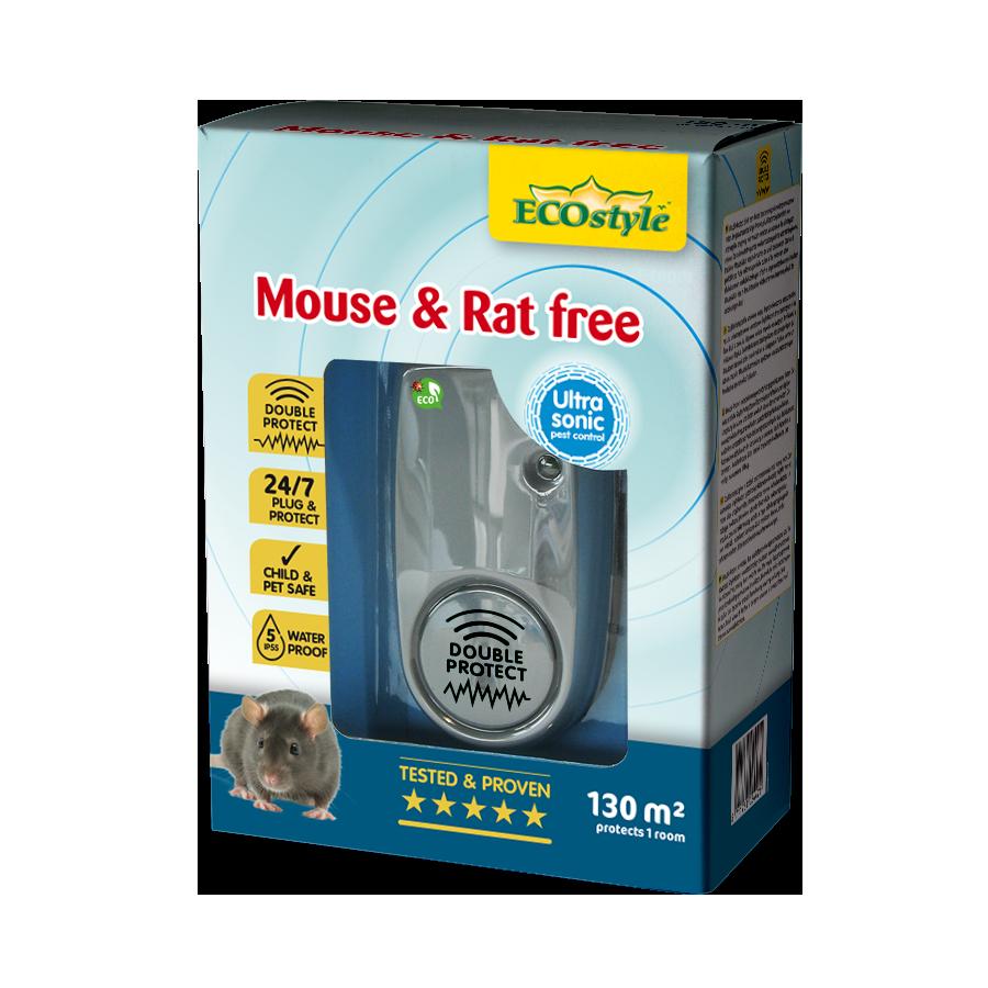 Répulsif à ultrasons souris et rats free 130 m2
