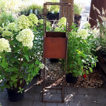 Jardinière haute de 120 cm de haut à poser en fer rouillé