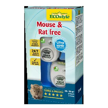 Répulsif à ultrasons souris et rats free 30 + 30 m2