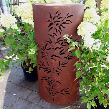 Petite colonne bambou à poser en fer rouillé