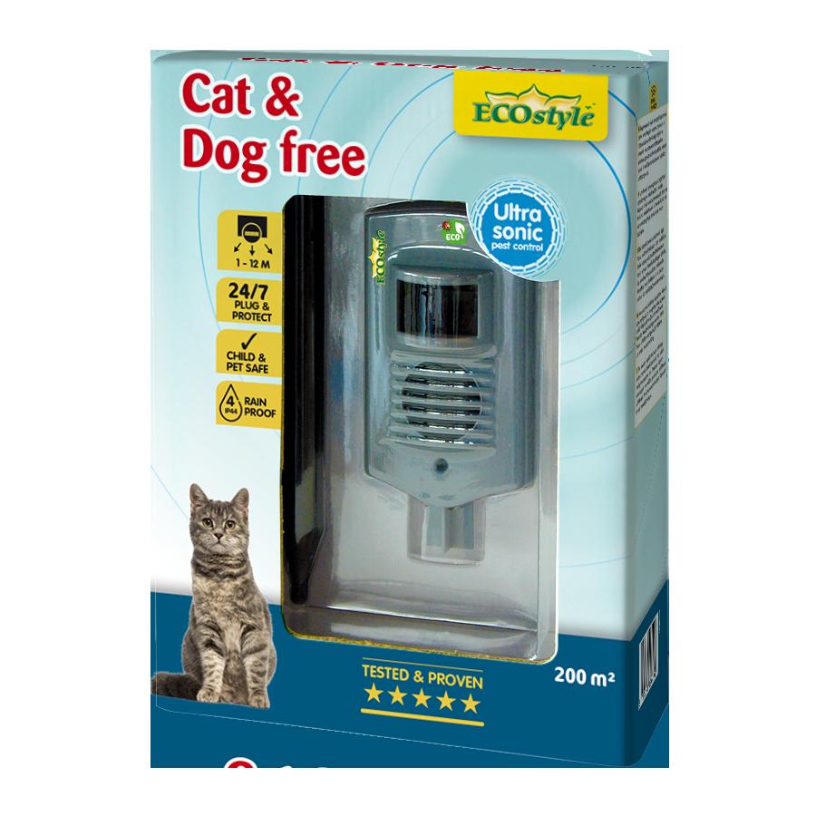 Répulsif à ultrasons chats et chiens free 200 m2