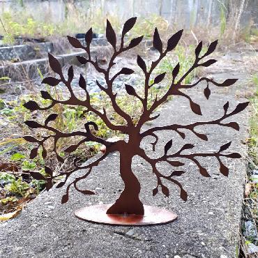 Petit arbre de vie 28 cm de haut à poser en fer rouillé