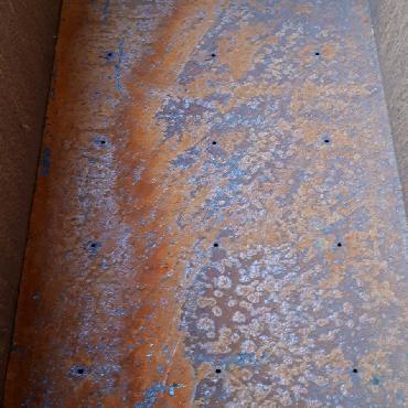 Bac rectangulaire plantation 100x40x40 cm à poser en fer rouillé
