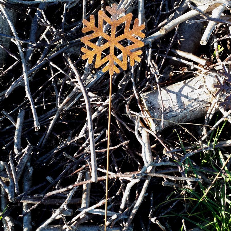 Flocon de neige à piquer en fer rouillé