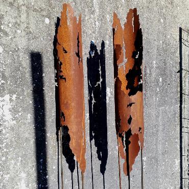 Torche à piquer en fer rouillé