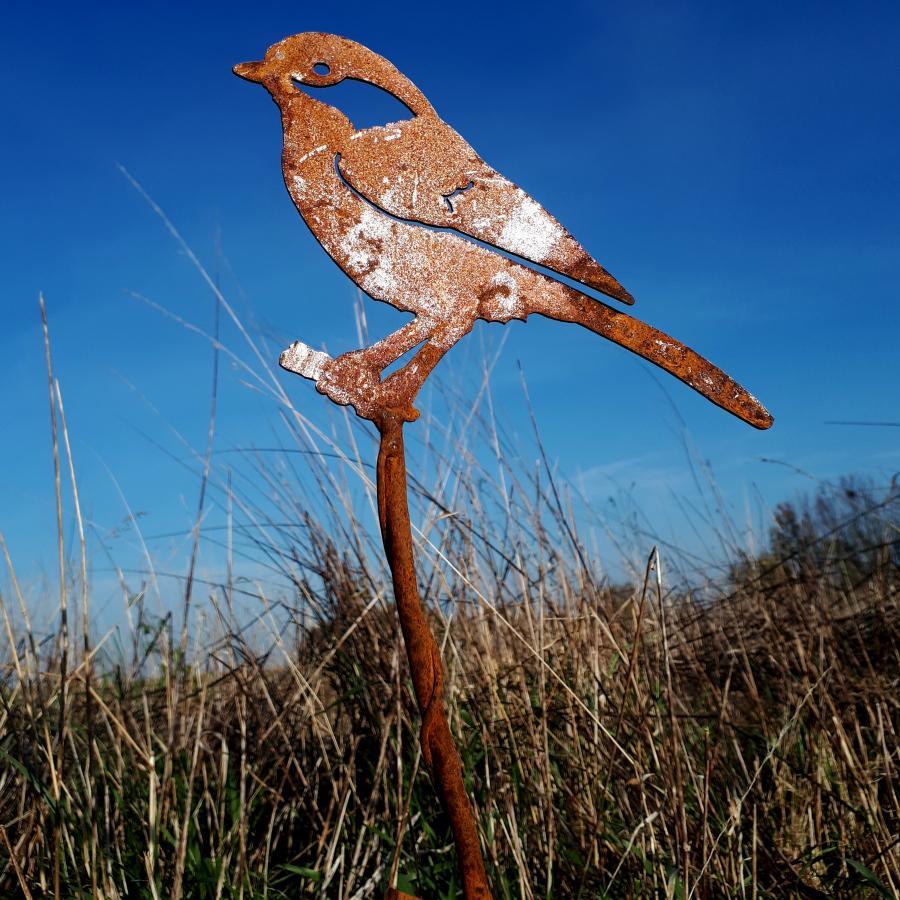Oiseau geai des chênes à piquer en fer rouillé