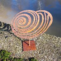 Petit coquillage Mer du Nord à poser en fer rouillé
