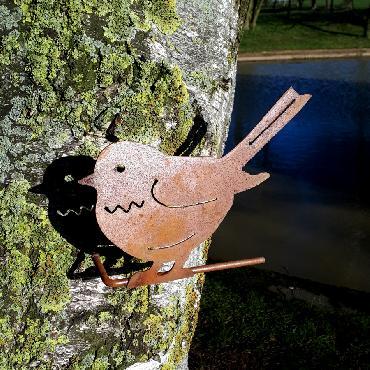 Oiseau moineau à visser en fer rouillé