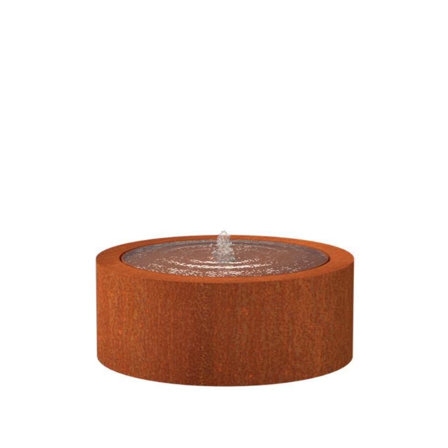 Table d'eau ronde en acier corten 1000x400 mm