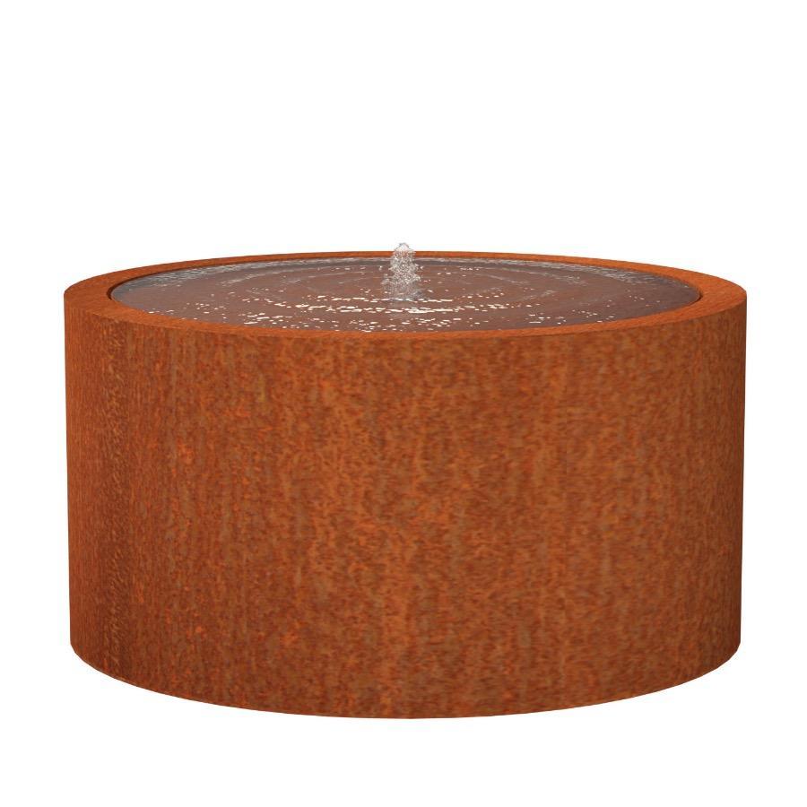 Table d'eau ronde en acier corten 1450x750 mm