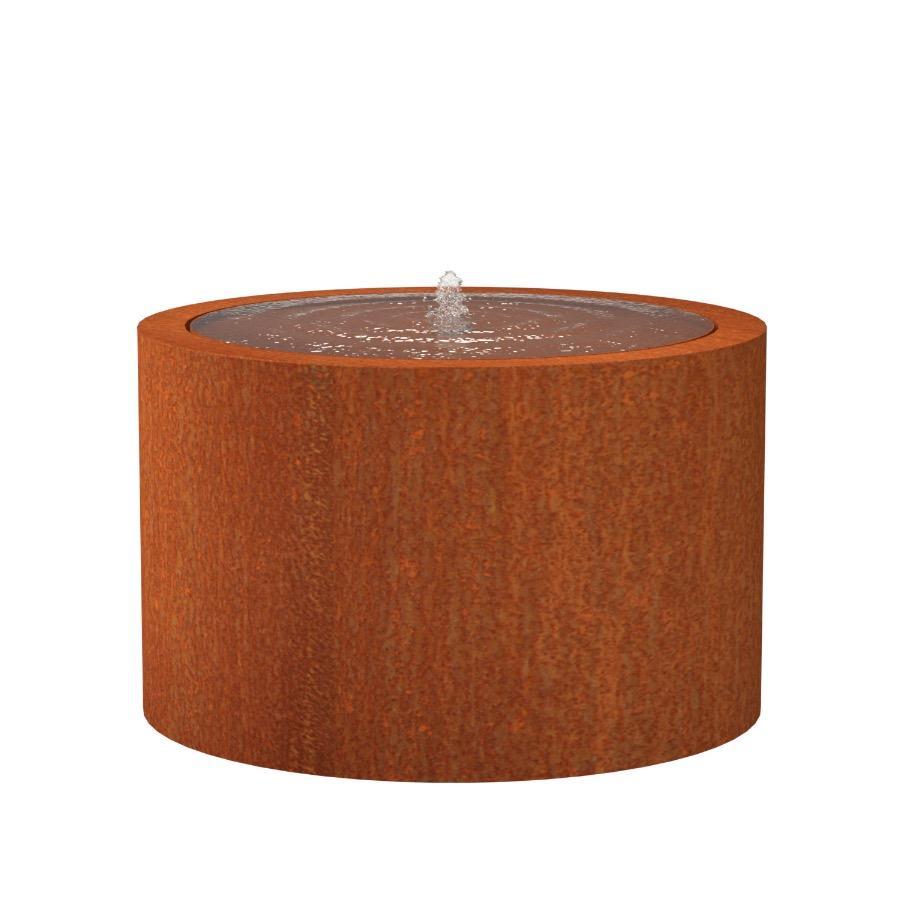 Table d'eau ronde en acier corten 1200x750 mm
