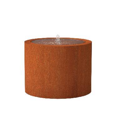 Table d'eau ronde en acier corten 1000x750 mm