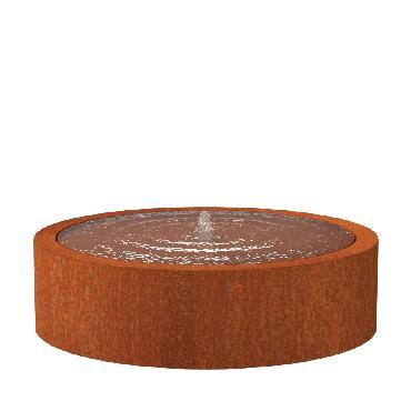 Table d'eau ronde en acier corten 1450x400 mm