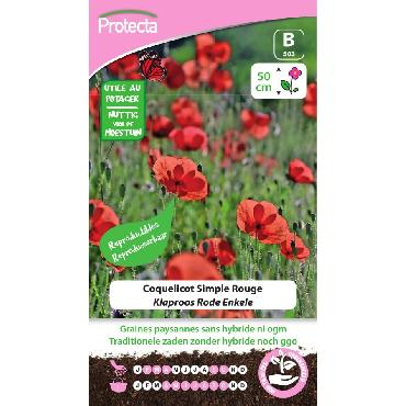 Protecta - Graines paysannes Coquelicot Simple Rouge