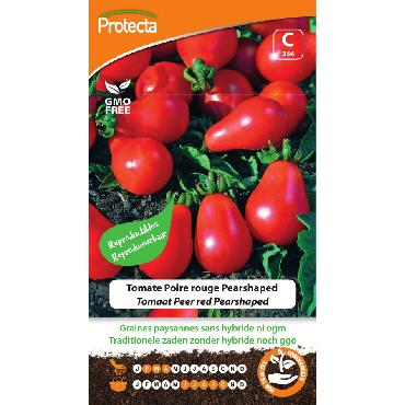 Protecta - Graines paysannes Tomate Poire Rouge Pearshaped