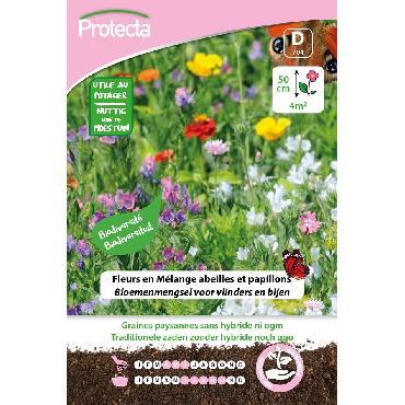 Protecta - Graines paysannes Fleurs en Mélange abeilles et papillons XXL