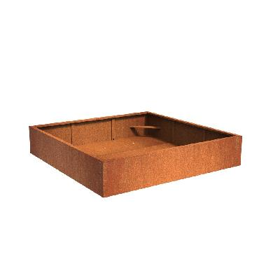Pot carré ANDES en acier corten 2000x2000x400 mm