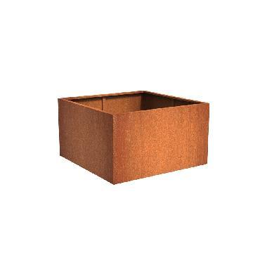 Pot carré ANDES en acier corten 1400x1400x800 mm