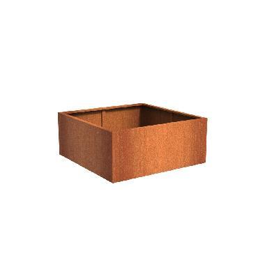 Pot carré ANDES en acier corten 1400x1400x600 mm