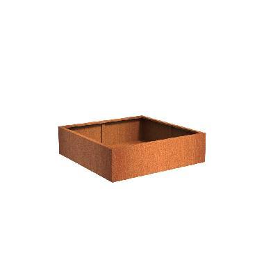 Pot carré ANDES en acier corten 1400x1400x400 mm
