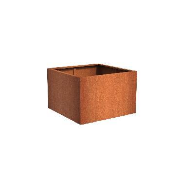 Pot carré ANDES en acier corten 1200x1200x800 mm