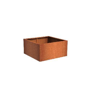 Pot carré ANDES en acier corten 1200x1200x600 mm