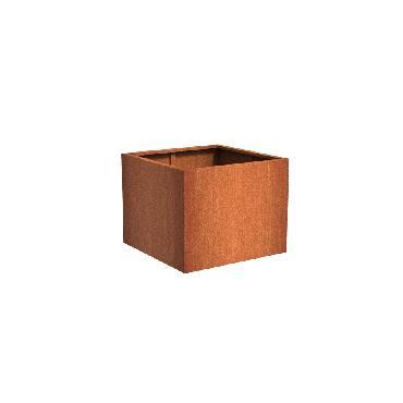 Pot carré ANDES en acier corten 1000x1000x800 mm
