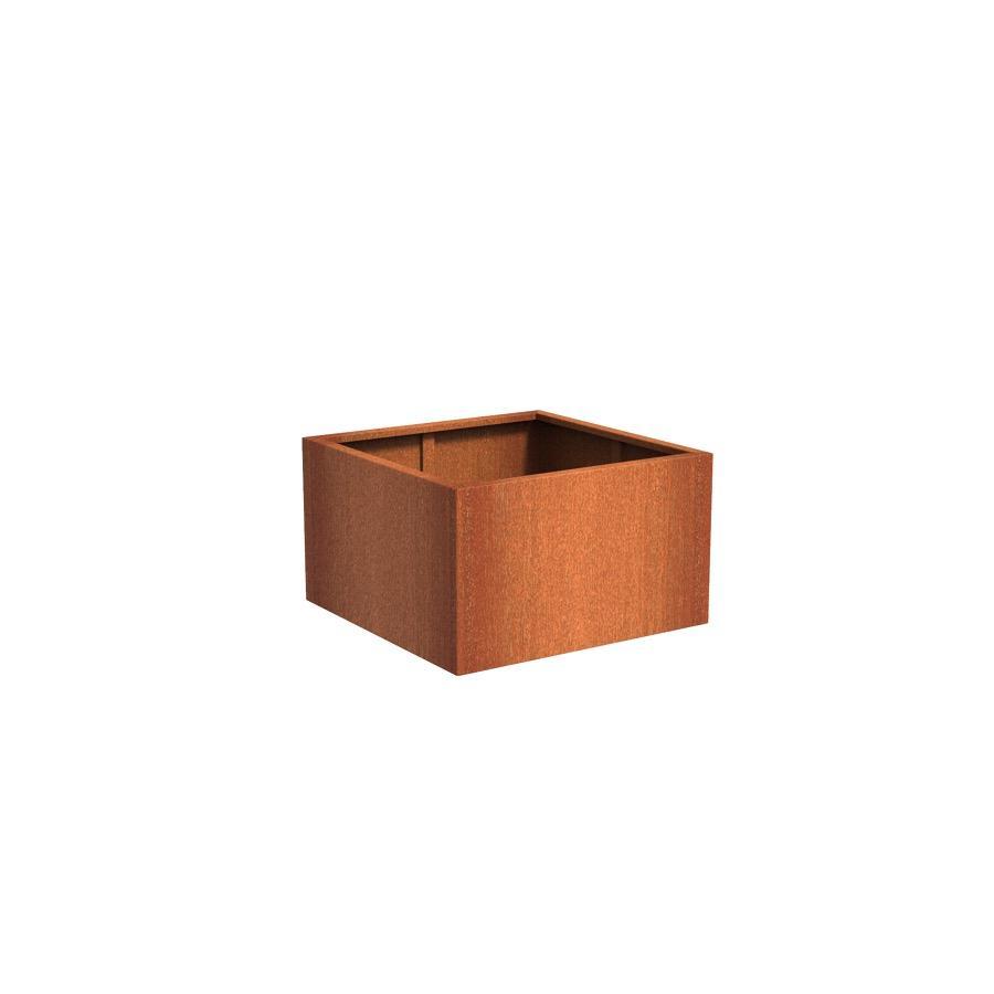 Pot carré ANDES en acier corten 1000x1000x600 mm