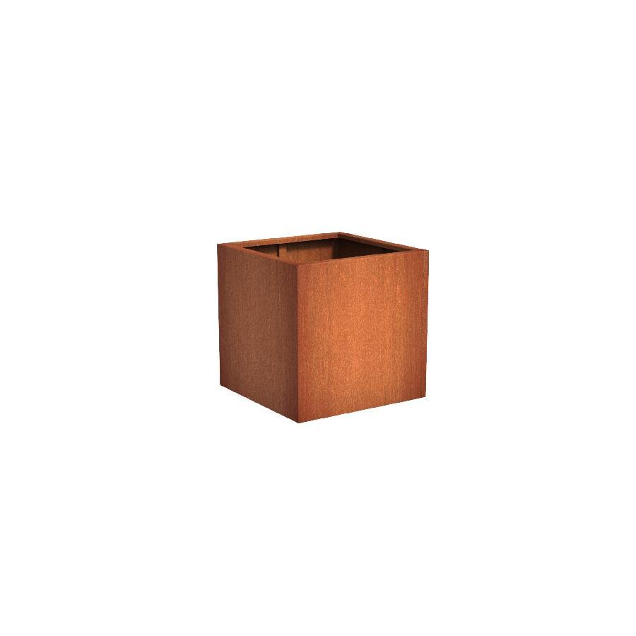 Pot carré ANDES en acier corten 800x800x800 mm