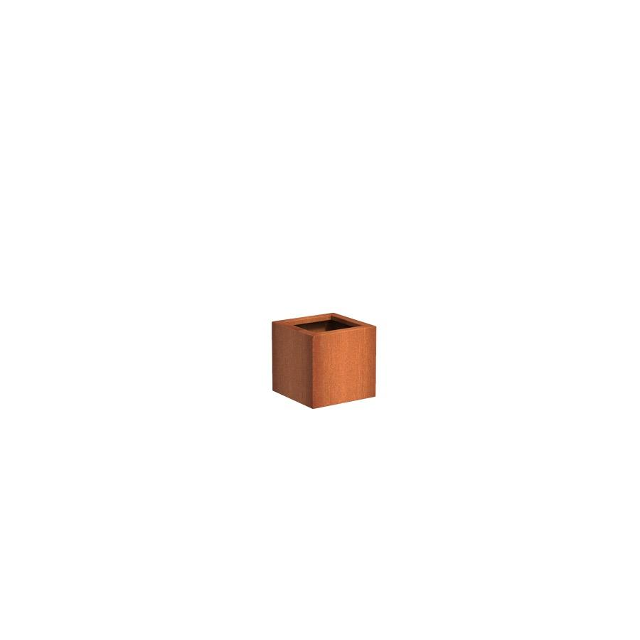 Pot carré ANDES en acier corten 400x400x400 mm