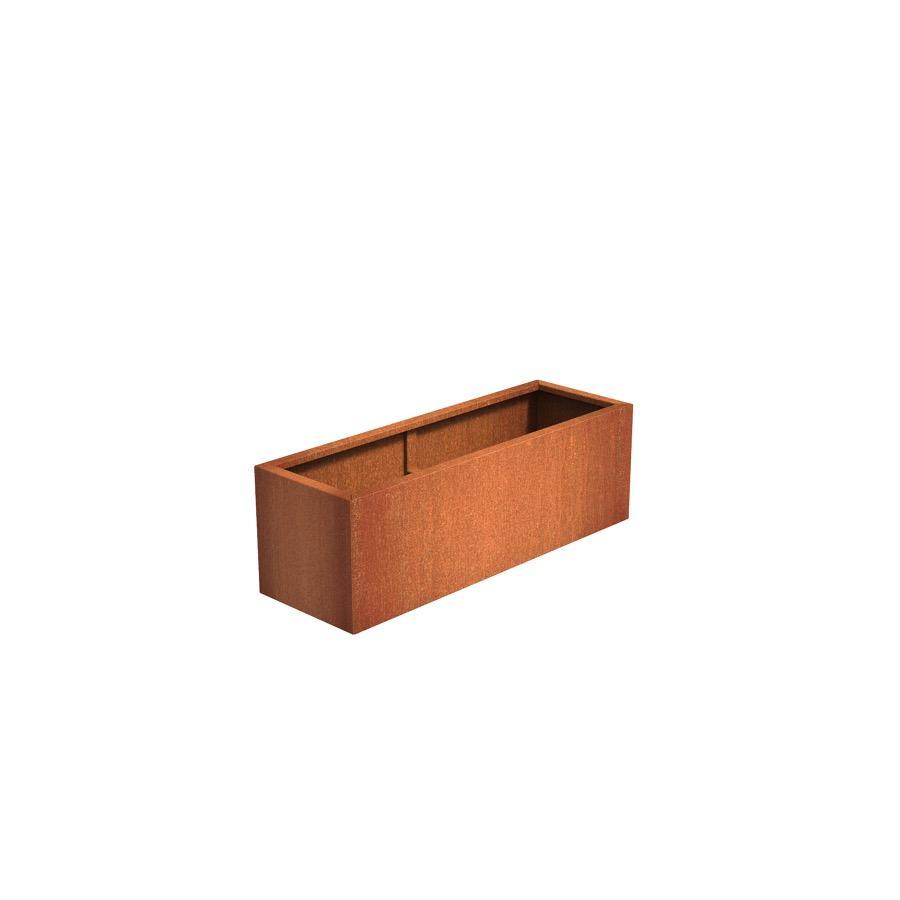 Pot rectangulaire ANDES en acier corten 1500x500x500 mm