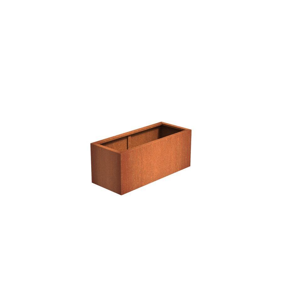 Pot rectangulaire ANDES en acier corten 1200x500x500 mm