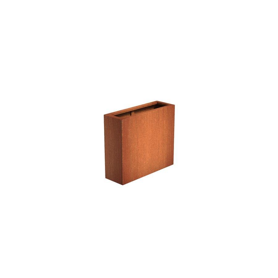 Pot rectangulaire ANDES en acier corten 900x300x800 mm