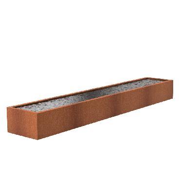Bassin carré en acier corten 6000x1000x600 mm
