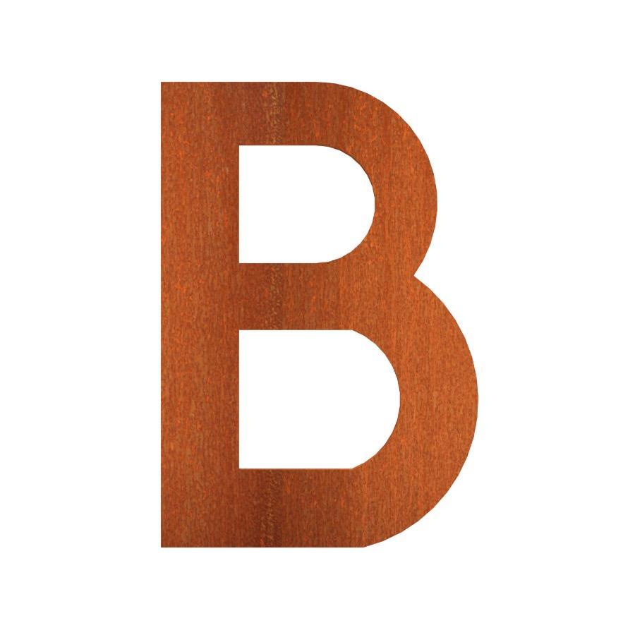 Lettre de maison B en acier corten 62x5x90 mm