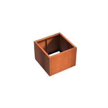 Pot carré ANDES sans fond en acier corten 800x800x600 mm
