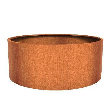 Pot rond ATLAS en acier corten 2000x800 mm