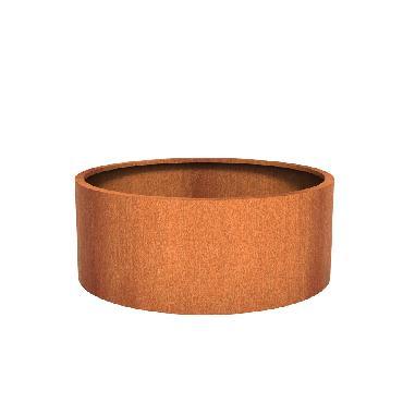 Pot rond ATLAS en acier corten 1500x600 mm