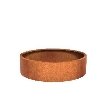 Pot rond ATLAS en acier corten 1500x400 mm