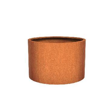 Pot rond ATLAS en acier corten 1200x800 mm