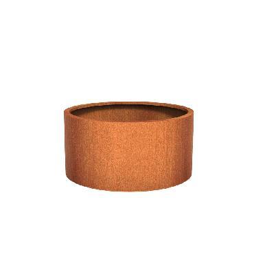 Pot rond ATLAS en acier corten 1200x600 mm