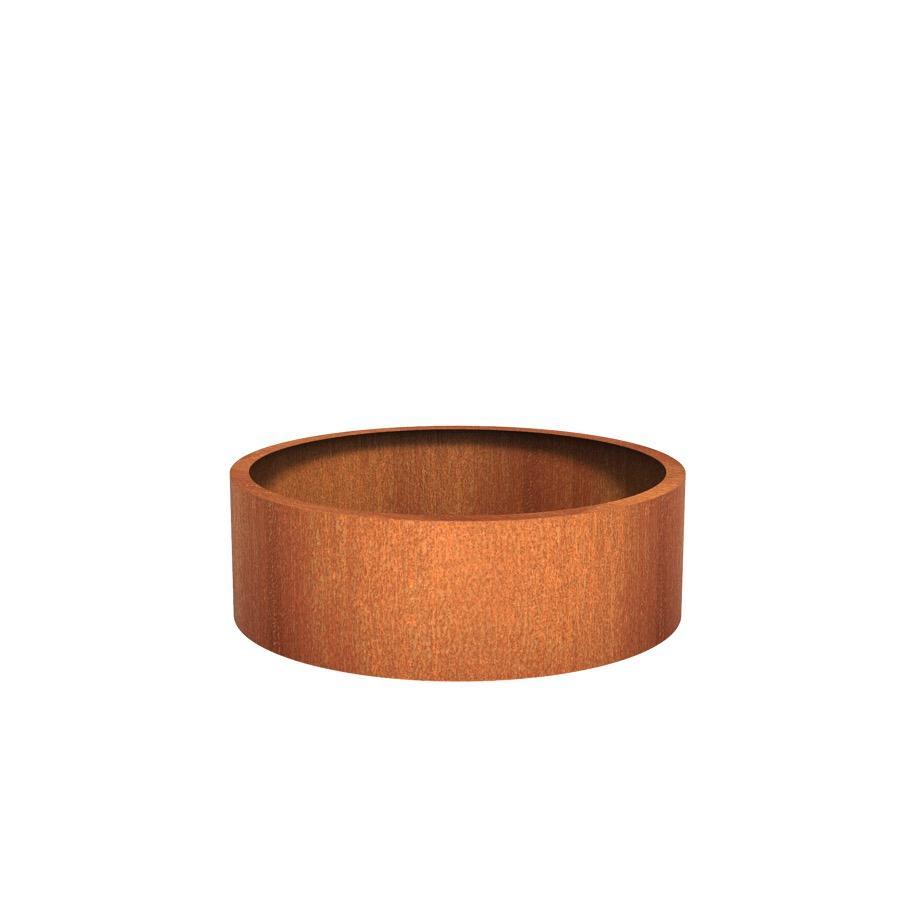 Pot rond ATLAS en acier corten 1200x400 mm